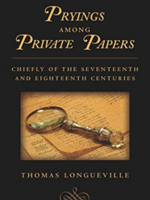 black cover with a magnifying glass over some yellowed papers in the center.