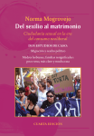 The cover is a pink background with the title text in white and yellow, plus a photo of a protest