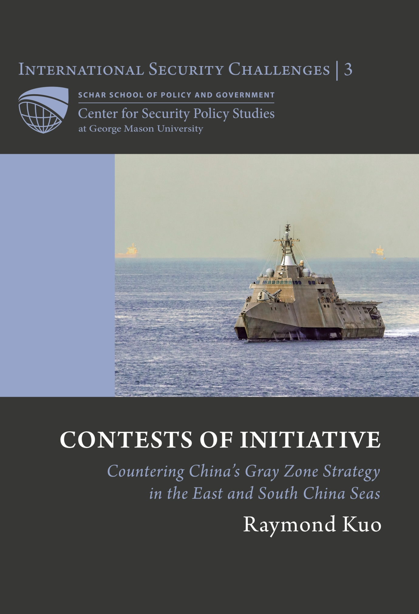 This is a book cover in gray, blue and white colors, with a large ship on the cover