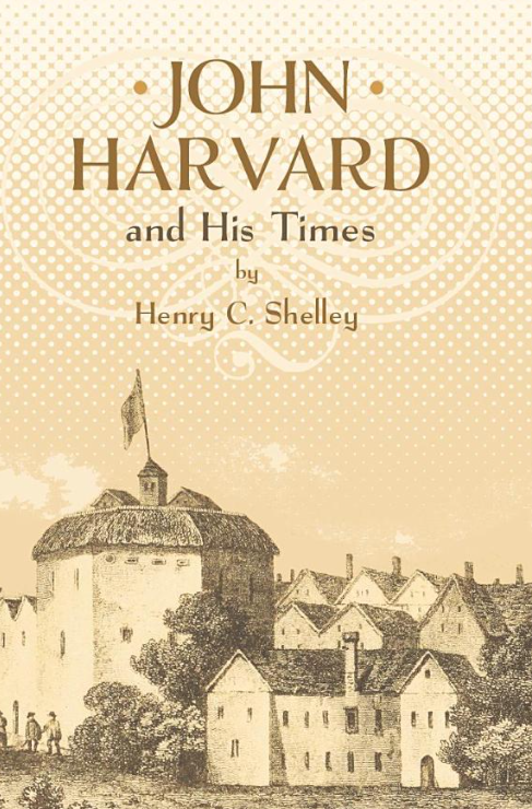 This is a sepia toned cover with the book title and author at the top and a drawn image of some buildings from the 1600s